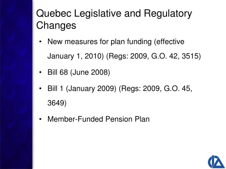 New measures for plan funding (effective January 1, 2010) (Regs: 2009, G.O. 42, 3515)