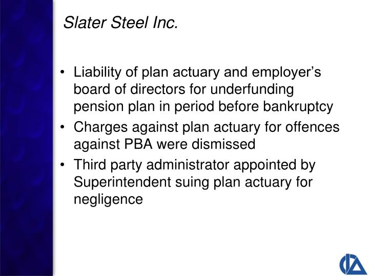 Liability of plan actuary and employer's board of directors for underfunding pension plan in period before bankruptcy