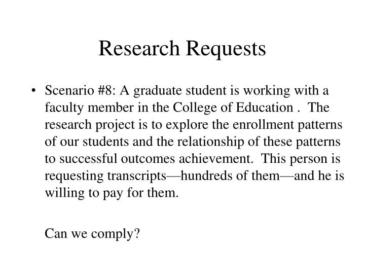 Research Requests