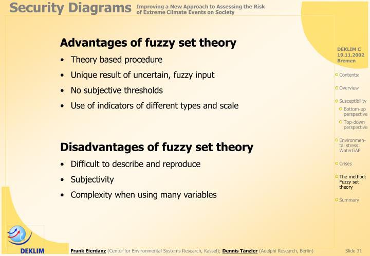 Advantages of fuzzy set theory