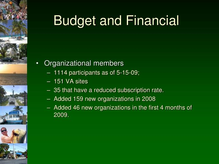 Budget and Financial