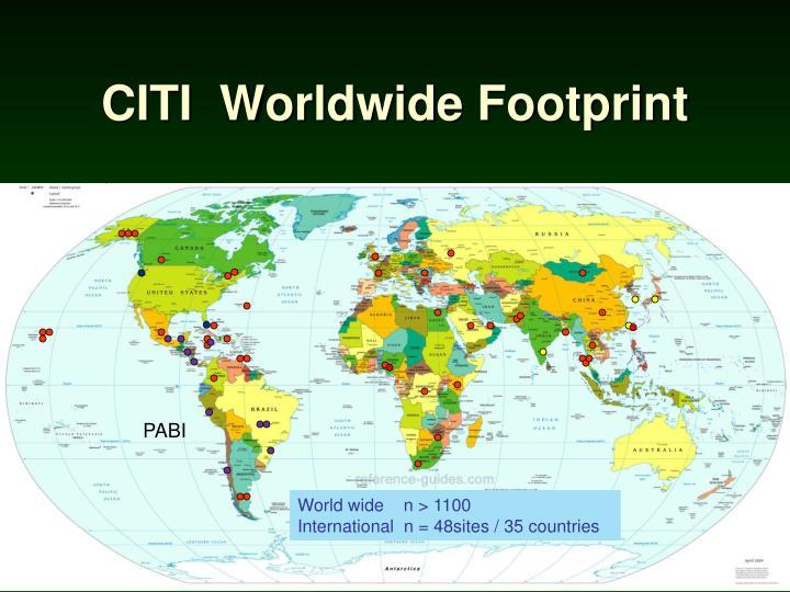 CITI  Worldwide Footprint