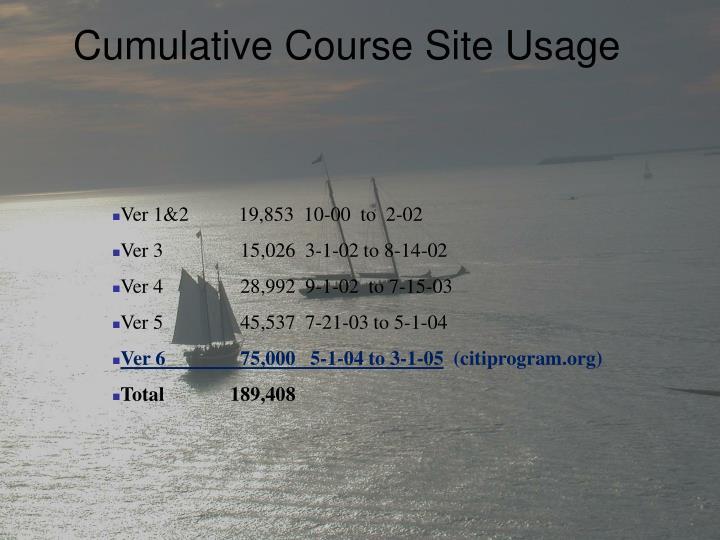 Cumulative Course Site Usage