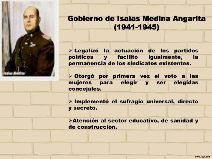 Gobierno de Isaías Medina
