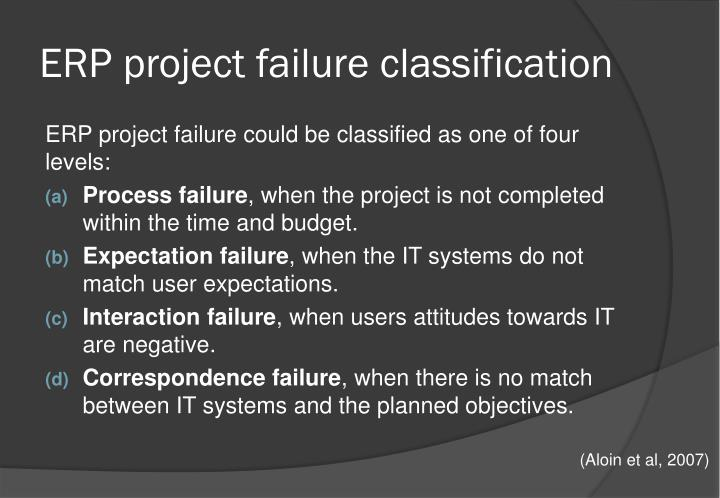 ERP project failure