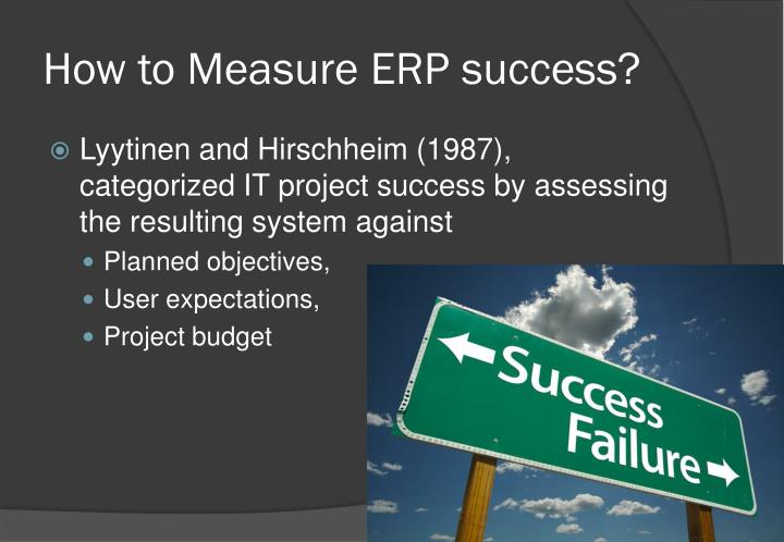 How to Measure ERP success?