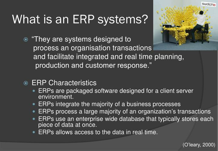 What is an ERP systems?