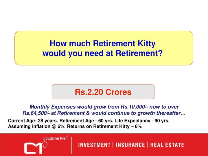 How much Retirement Kitty