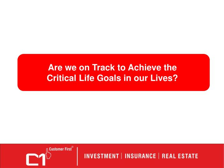 Are we on Track to Achieve the