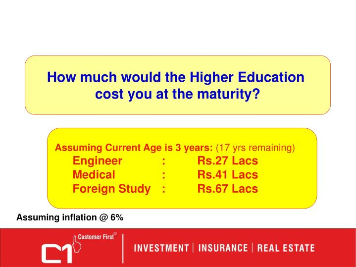 How much would the Higher Education