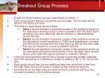 breakout group process