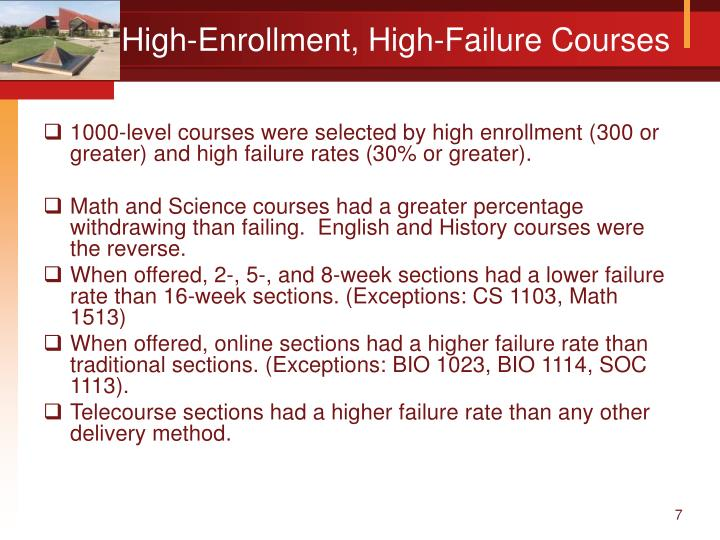 High-Enrollment, High-Failure Courses