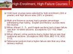 high enrollment high failure courses