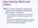 data cleaning blanks and outliers