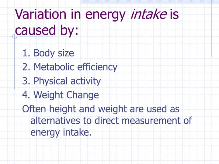 Variation in energy