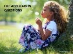 life application questions