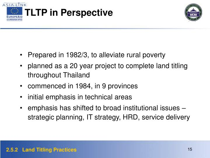 TLTP in Perspective