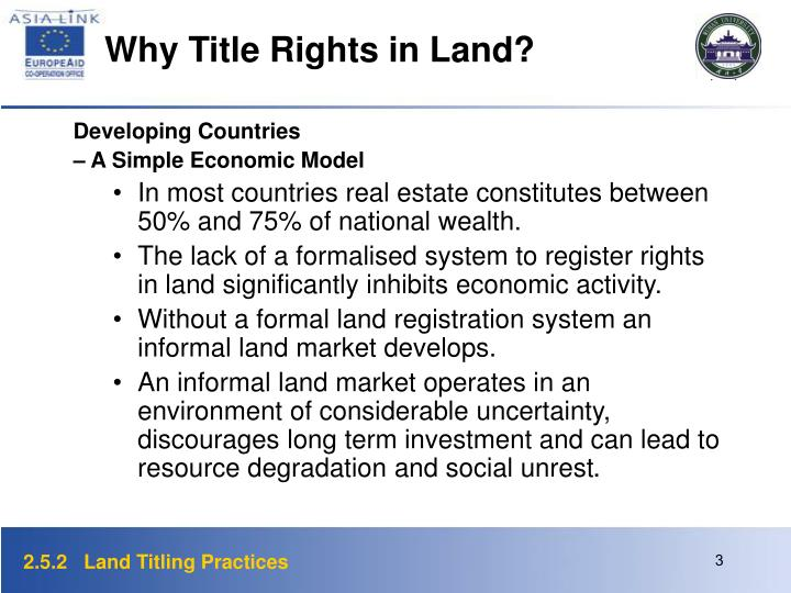Why Title Rights in Land?