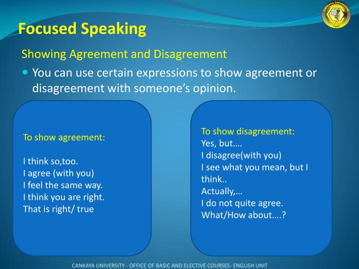 Focused Speaking