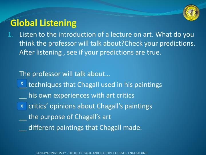 Global Listening