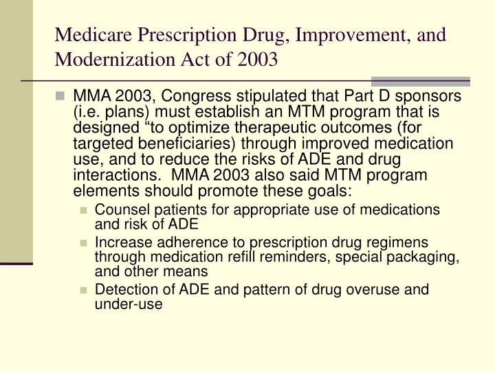 Medicare Prescription Drug, Improvement, and Modernization Act of 2003