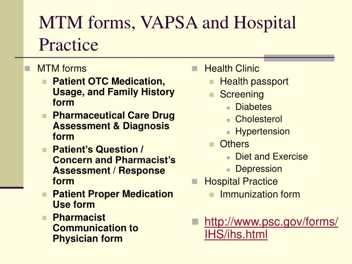 MTM forms