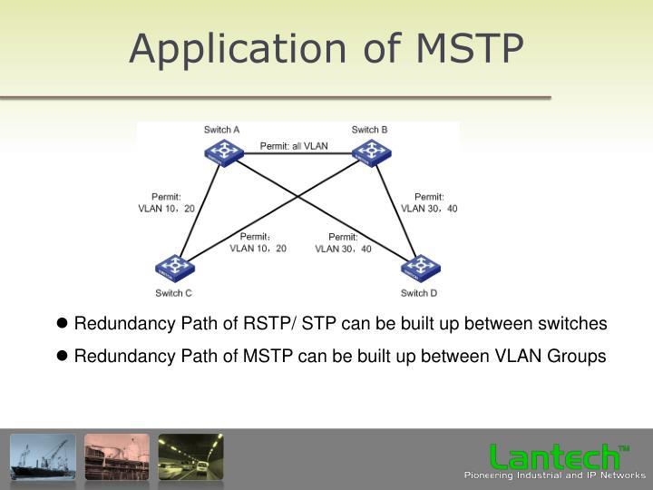 Application of MSTP