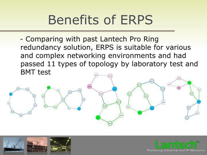 Benefits of ERPS