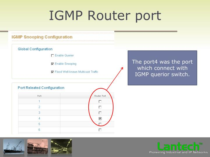 IGMP Router port