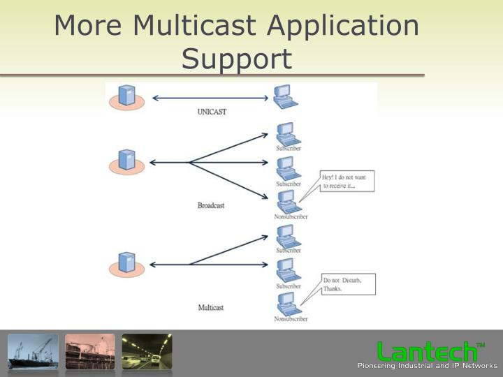 More Multicast Application Support