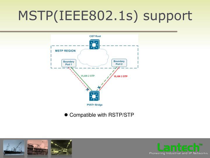 MSTP(IEEE802.1s) support