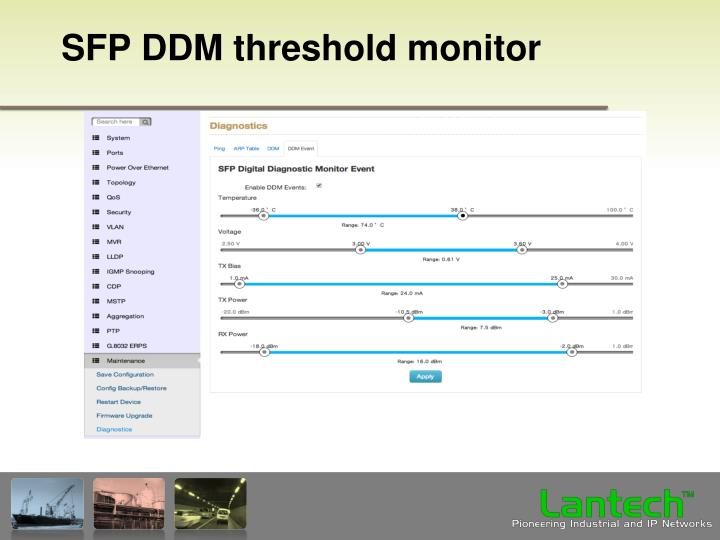 SFP DDM threshold monitor
