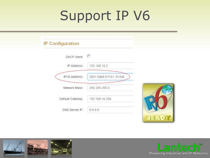Support IP V6