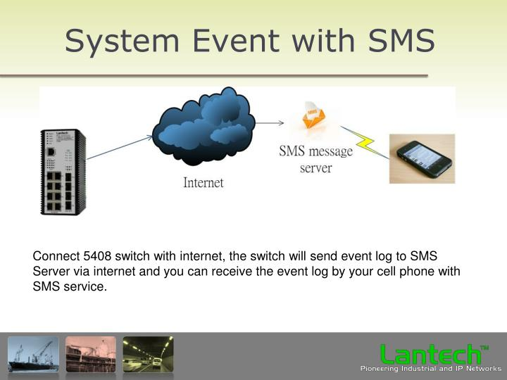 System Event with SMS