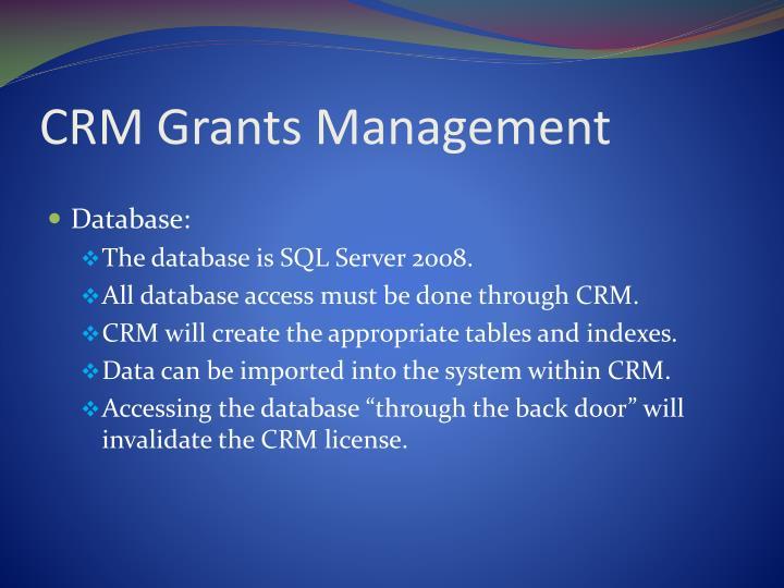 CRM Grants Management