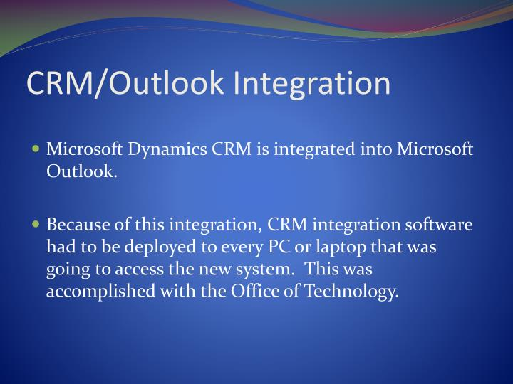 CRM/Outlook Integration