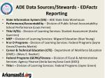 ade data sources stewards ed facts reporting