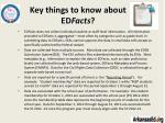 key things to know about ed facts