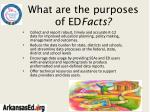 what are the purposes of ed facts