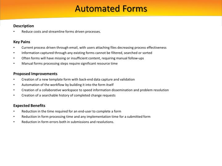 Automated Forms