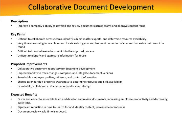 Collaborative Document Development