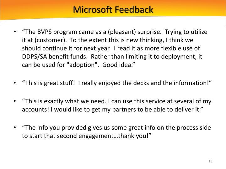 Microsoft Feedback