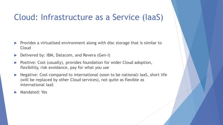 Cloud: Infrastructure as a Service (IaaS)