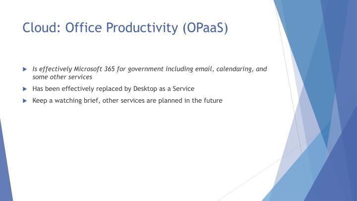 Cloud: Office Productivity (