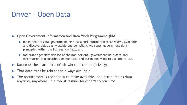 Driver - Open Data