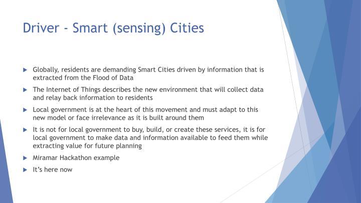 Driver - Smart (sensing) Cities