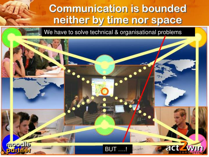 Communication is bounded neither by time nor space