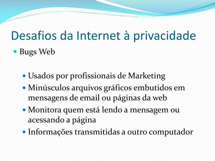 Desafios da Internet à privacidade