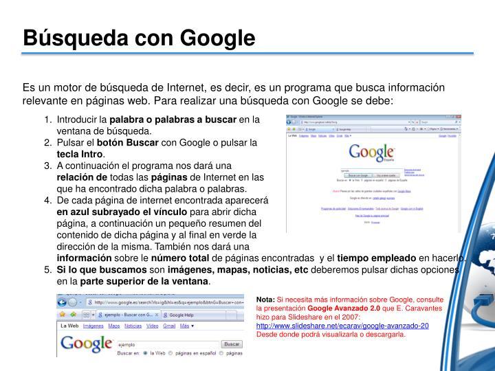 Búsqueda con Google