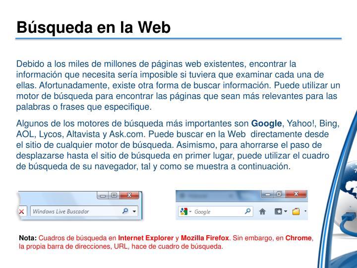 Búsqueda en la Web